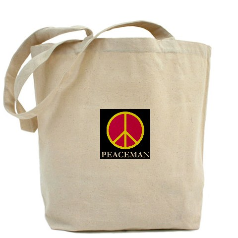 Peaceman Tote Bag